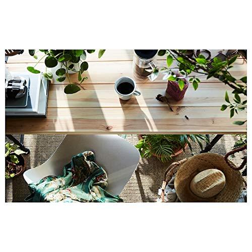 BestOnlineDeals01 KULLABERG Escritorio de pino, negro, 110 x 70 cm, duradero y fácil de cuidar. Hasta 4 asientos. Mesas de comedor. Mesas y escritorios. Muebles. Respetuoso con el medio ambiente.