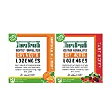 TheraBreath Dry Mouth Lozenges, Mandarin Mint, 24 Lozenges and Dry Mouth Lozenges with Zinc, Tart Berry, 24 Lozenges