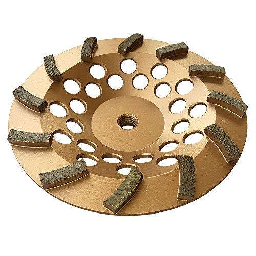Grinding Wheels for Concrete and Masonry 7 Diameter 12 Turbo Diamond Segments 5/8-11 Arbor