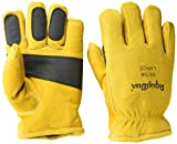RefrigiWear Warm Double Insulated Cowhide Leather Work Gloves with Abrasion Pads (Gold, Large)