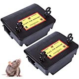 Wanqueen 2Pack Rat Traps, Reusable Squirrel Trap for House and Outdoor(Not Including Bait)