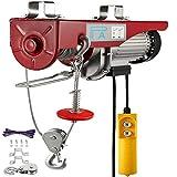 Polipasto Eléctrico para Elevación 1000kg, 2200lbs, Herramienta de Elevación con Control Remoto, Cabrestante Eléctrico de Acero, 220V