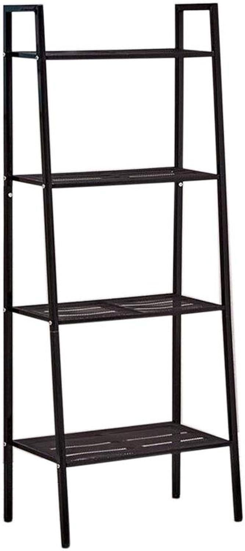 JCAFA Shelves Metal Bookshelf Floor Stand Multi-Layer Organizer Shelves for CDs, Records Space Saving Storage Shelf, 2 Sizes (color   White, Size   23.62  13.77  58.26in)