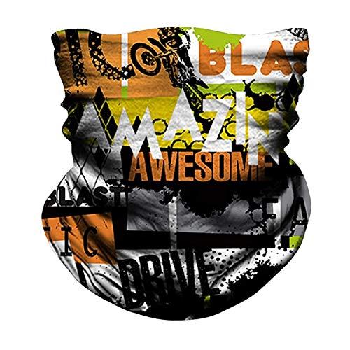 LBLX Chal Turbante Hombres Que completan la Motocicleta al Aire Libre a Prueba de Viento Deportes Diadema Guardia Cuello Bufanda (Color : G, Size : One Size)
