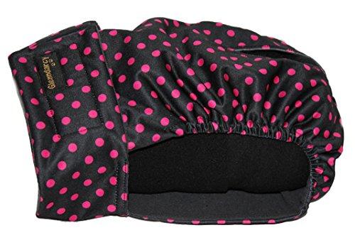Glenndarcy Weibliche Hundehosen - Waschbar - Black Pink Dots XXL Pants only