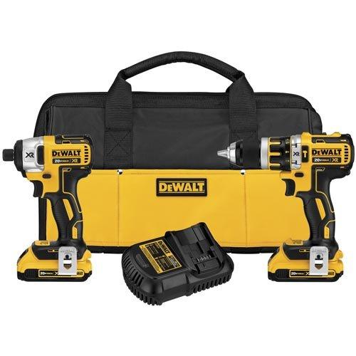 DEWALT 20V MAX XR Cordless Hammer Drill Combo Kit, Compact, 2-Tool (DCK286D2)