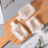 12Pcs Portable Travel Liquid Cosmetic Packaging Bag - Plastic Stand Up Spout Pouch, Transparent Bag Easy to Distinguish Waterproof Leakproof Anti-Pollution, for Body Lotion Shower Gel Shampoo