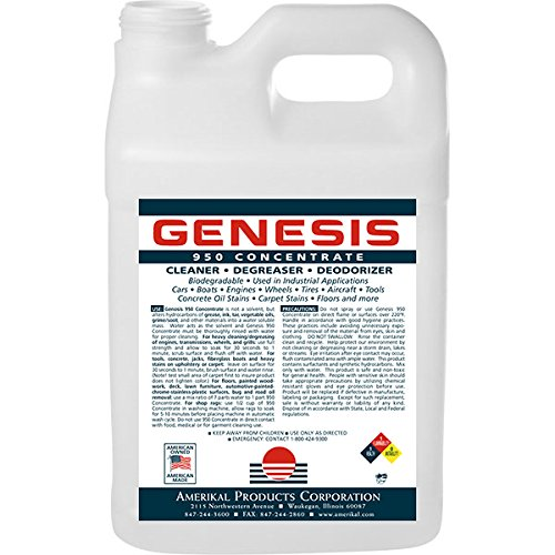 Genesis 950 2.5 Gallon + Spigot - Professional Strength Concentrate, Pet Odor Eliminator, Pet Stain Remover, Carpet Cleaner Shampoo & All Purpose Green Cleaner, Make Stains, Oil / Grease Water Soluble
