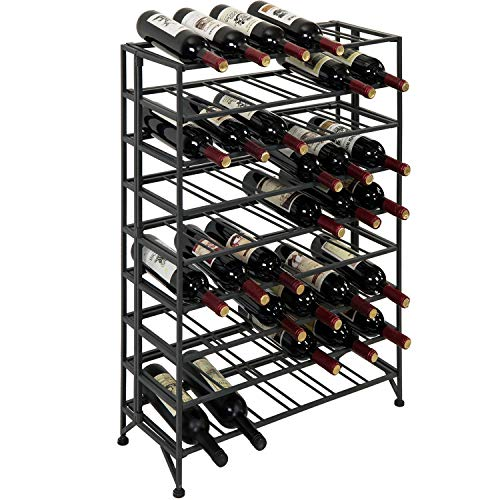 54 Bottle Connoisseurs Deluxe Large Foldable Gray Metal Wine...