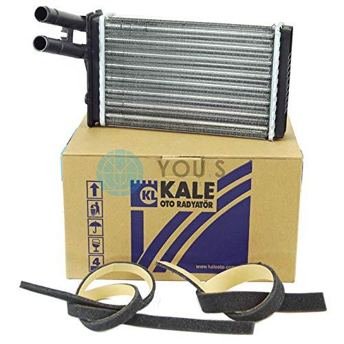 KALE Heizungskühler Wärmetauscher Netzmaße: 230 x155 x 40 mm - 893819030A