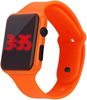 Children's Smart Watch, Sports Bracelet LED Children's Electronic Watch,Orange