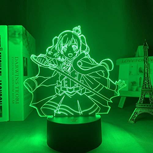 Luz de noche 3D para niños, luz LED anime Revue Starlight para decoración de cumpleaños, manga Gadget Revue Starlight Aijo Karen Lampfor dormitorio, regalo de Navidad, mando a distancia
