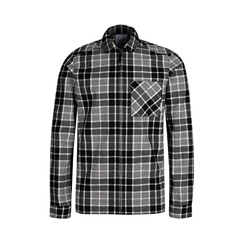 Mammut Tamaro Chemises à Manches Longues Homme Bright White-Black FR: M (Taille Fabricant: M)