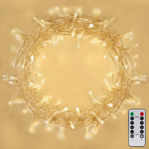[Remote Control] 100 LEDs Indoor Battery Fairy Lights (Warm White, 10M, Timer) for Christmas Tree, Festive, Birthday, Party, Wedding