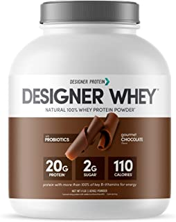 Designer Whey Natural Protein Powder, Gourmet Chocolate, 4 lb, Non GMO, No Artificial Flavors, Sweeteners, Colors, or Pres...