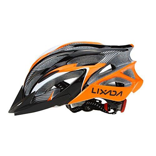 Lixada Casco da Bicicletta 25 Vents Ultraleggero Integralmente-modellato MTB Bici Regolabile...