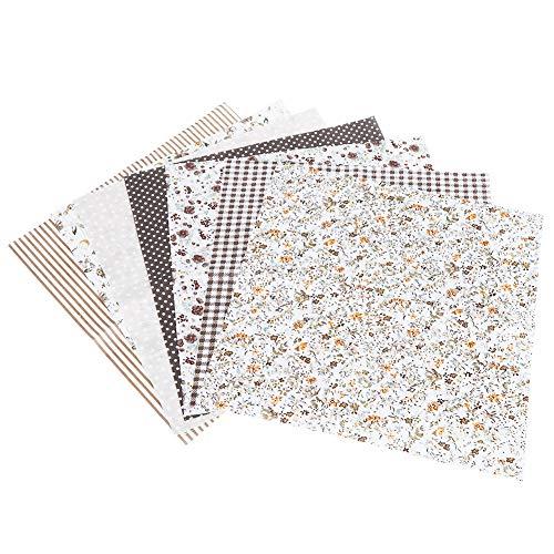 Felenny 7 Piezas de Tela 50 X 50 Cm Tela de Algodón Tela Impresa Coser Telas para Acolchar para Costura Material Hecho a Mano de Bricolaje