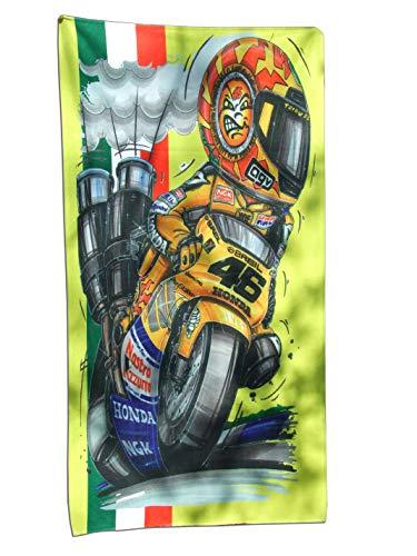 KOOLART H o n d a 500 GP Rossi - Toalla de playa, extragrande, 140 x 70 cm