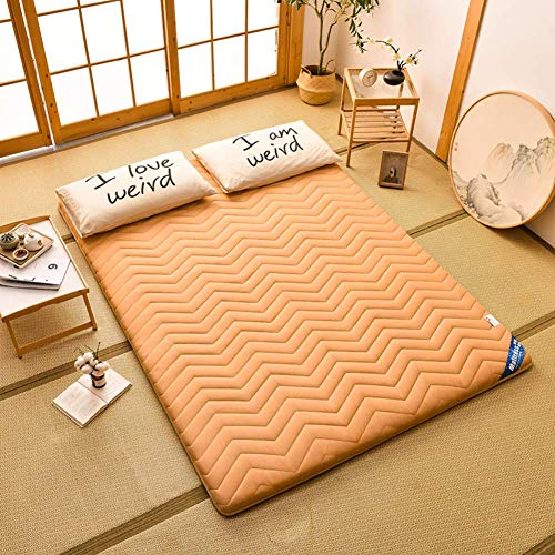 DJQ Traditional Japanese Futon Mattresses, Foldable Quilted Thickened Tatami Mat Mattress Dormitory Mattress Roll-Up Guest Bed B 90x200cm (35x79 inch)