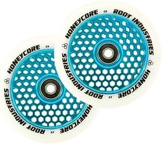 Root Industries Honeycore 120mm Wheels White/Blue (Pair)