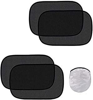 Ecloud Shop Car Window Shade - Nylon Mesh Car Windows Shades Film Sun Glare Sunlight and Heat Resistant,4 Pieces