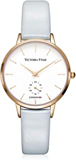 VICTORIA HYDE Women Quartz Wrist Watches with Genuine Leather Strap for Ladies