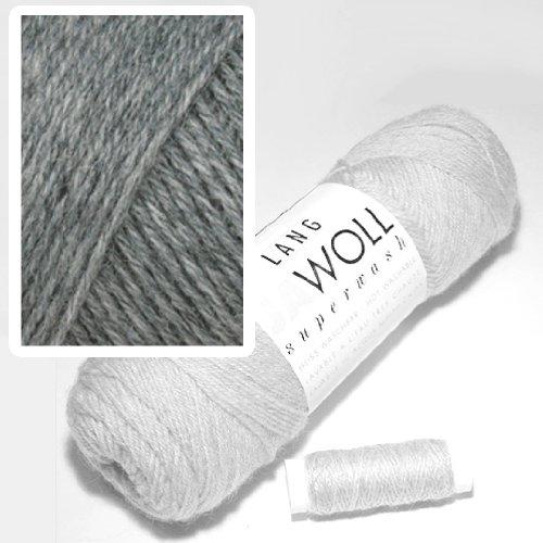 Lang Jawoll Superwash Sockenwolle Farbwahl (03 - dunkelgrau)