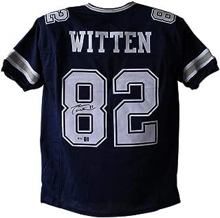 Jason Witten Autographed/Signed Dallas Cowboys Blue XL Jersey BAS