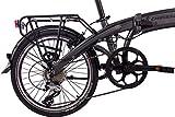 CHRISSON 20 Zoll E-Bike City Klapprad EF1 grau - E-Faltrad mit Bafang Nabenmotor 250W, 36V und 30 Nm, Pedelec Faltrad für Damen und Herren, praktisches Elektro Klappfahrrad, perfekt für die Stadt - 3