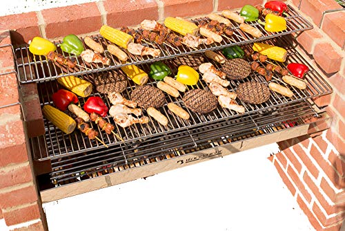 BLACK KNIGHT BARBECUES BKB 803 112 x 39 cm XL Barbecue kit – en Acier Inoxydable