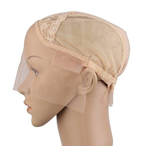 Beauty7 Wig Cap pour Extension de Cheveux Perruque Capuchon Casquette avec Sangle Reglable Chapeau Bricolage Crochet Tissage Filet A Cheveux Bonnet Deguisement Dome Cap