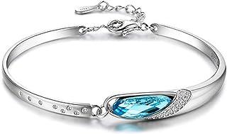 TSWC s925 sterling silver twelve constellation couple bracelet female muse eye bracelet Austrian crystal bracelet