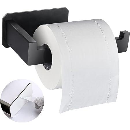 Porte Papier Toilette Acier Inoxydable Support de Papier, Porte Rouleau Papier Toilettes sans Percage,Porte Papier Toilette Auto-adhésif