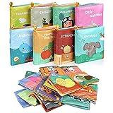 Lictin Libros Blandos para Bebé-Libros de Tela para Bebé Impermeable sobre Aprendizaje y Educativo para Bebé Recién Nacido con Certificación CE(8 piezas)