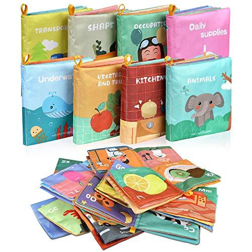 Lictin Libros Blandos para Bebé-Libros de Tela para Bebé...