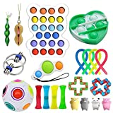 Juego de juguetes sensoriales, juego de 21 juguetes para niños y adultos, para aliviar el estrés, alivio de la ansiedad, juguetes para regalos de fiesta de cumpleaños,recompensas para el aula escolar