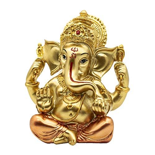 Hindu Lord Ganesha Sculpture - Indian Religious Elephant Buddha Ganesh Statue Decoration - India Home Pooja Murti Temple Accessories Handmade Wedding Return Gifts