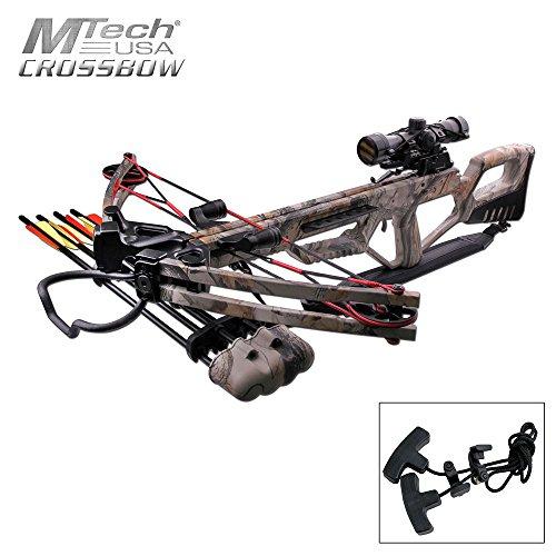 MTech USA MC-DX53GODC Crossbow Kit with Scope and 4 Arrows, God Camo, 185-Pound Draw Weight