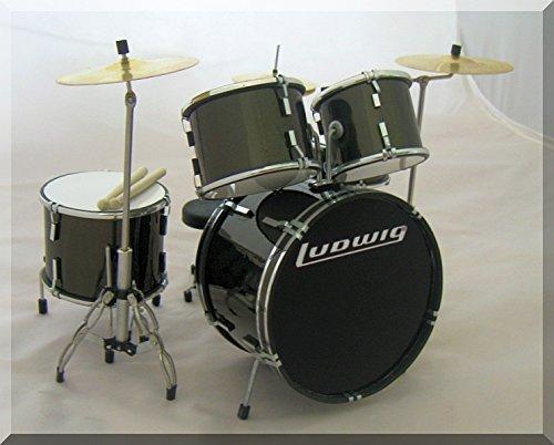 LUDWIG en miniatura batería Drumset para mostrar sólo