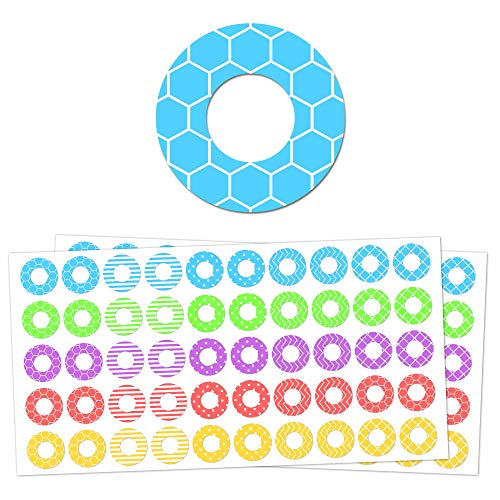 2000 Pack, Hole Reinforcement Ring Labels Stickers - 20 Assorted Designs