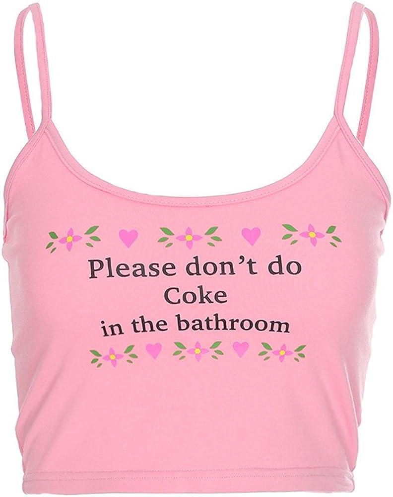 Portazai Women's Basic Stripe Spaghetti Strap Tube Crop Cami Tank Top Sleeveless Blouses Tunics Sports Shirts