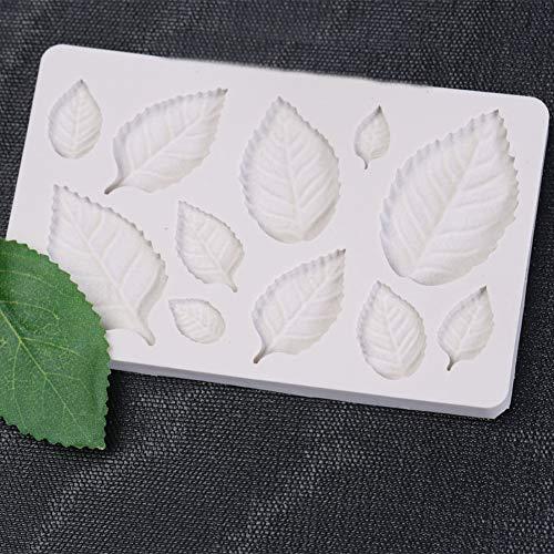 SHEANAON Leaf Silicone Mold Fondant Mold Cake Decorating Tools Chocolate Mold Baking Accessories
