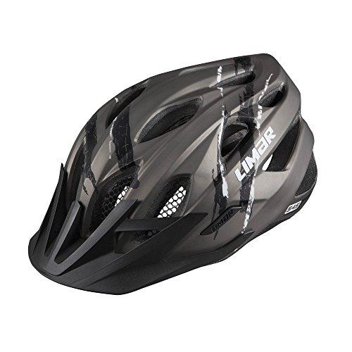 Limar Fahrradhelm 545 MTB Sport Action Radhelm, Matt Anthracite Black White, M (52-57cm)