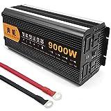 Power Inverter Onda Sinusoidale Pura 3200W 4000W 5000W 6000W 8000W 9000W 12000W 15000W Trasformatore Potenza Convertitore DC 12V/24V in AC 220V 230V Invertitore Tensione,Onda Pura Inverter,9000W-12V