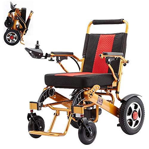 RDJM Ultraleichter Faltbarer Elektrischer Rollstuhl, Intelligente Automatische, Frei-Reiten, Elektro-Rollstuhl