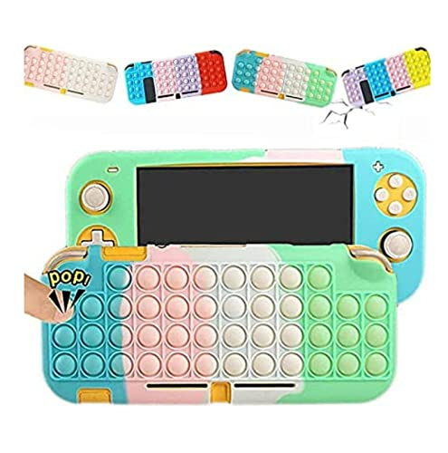 HJKLL Estuche Rainbow Pop Compatible con Nintendo Switch, para Switch Games Shell Silicona Fidget Fidget Toy It,Pop Bubble Fidget Sensorial Toy,Switch Funda Protectora Compatible
