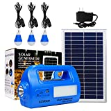 GCSOAR Solar Portable Generator DC Lighting Kit Multifunction Solar Power DC Lighting System
