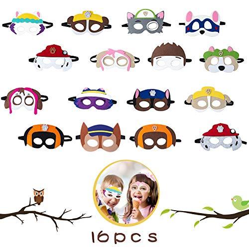OMZGXGOD 16 Piezas Máscaras de Fieltro, Máscaras de Paw