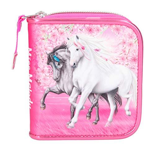 Depesche 11426 Portemonnaie für Mädchen im Miss Melody Cherry Blossom Design in pink, ca. 12 x 11 x 3 cm groß, mit Fächer für Münzen, Scheine und Karten