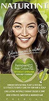Naturtint Permanent Hair Color 5N Light Chestnut Brown  Pack of 1  Ammonia Free Vegan Cruelty Free up to 100% Gray Coverage Long Lasting Results
